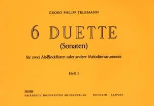 6 Duette Volume 1 - Fl. A Bec Alto TELEMANN Partition laflutedepan
