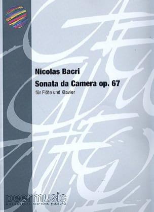 Sonata da Camera op. 67 -Flöte Klavier Nicolas Bacri laflutedepan