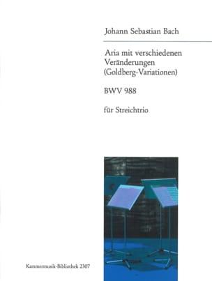 Goldberg-Variations Aria - Trio à Cordes BACH Partition laflutedepan
