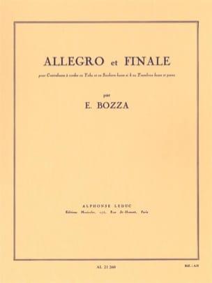 Allegro et Finale Eugène Bozza Partition Contrebasse - laflutedepan