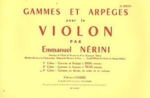 Gammes et Arpèges Volume 3 Emmanuel Nerini Partition laflutedepan