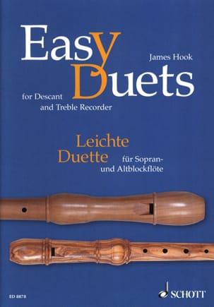Easy Duets - descant and treble recorder James Hook laflutedepan