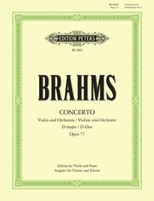 Concerto pour Violon op. 77 En Ré Majeur BRAHMS Partition laflutedepan