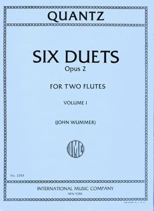 6 Duets op. 2 - Volume 1 - 2 Flutes QUANTZ Partition laflutedepan