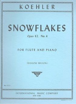 Ernesto KÖHLER - Copos de nieve op. 82 n ° 4 - Partition - di-arezzo.es