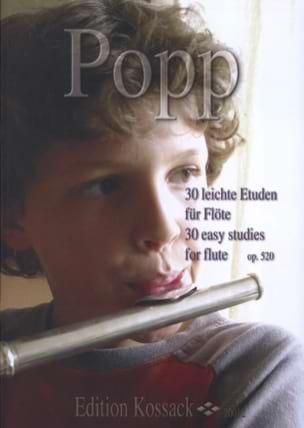 30 Leichte Etuden Op. 520 Wilhelm Popp Partition laflutedepan