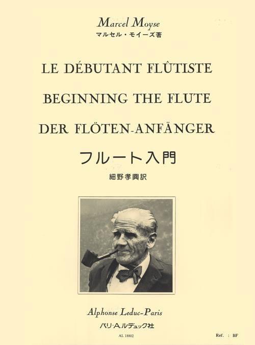 Le Débutant Flûtiste - Marcel Moyse - Partition - laflutedepan.com