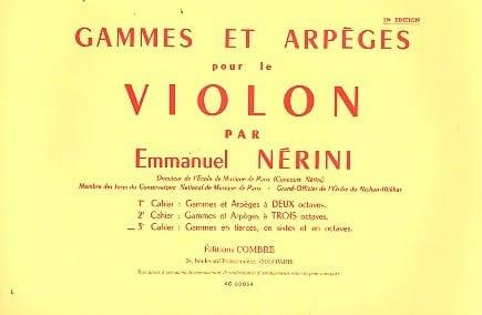 Gammes et Arpèges Volume 3 - Emmanuel Nerini - laflutedepan.com