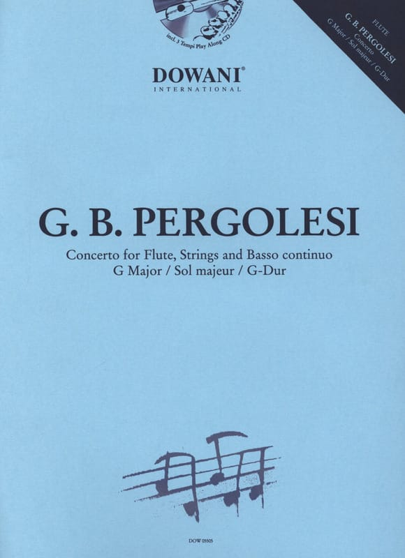 Concerto pour flûte en sol majeur - PERGOLESE - laflutedepan.com