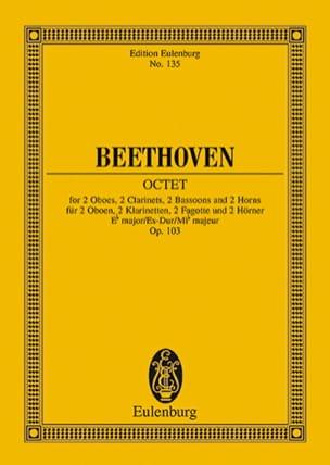 Oktett Es-Dur Mib M. - Conducteur - BEETHOVEN - laflutedepan.com