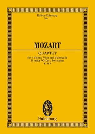 Streich-Quartett G-Dur KV 387 - Partitur MOZART Partition laflutedepan
