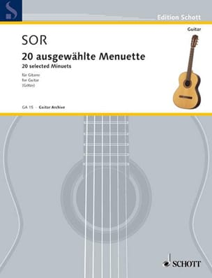 20 Augewählte Menuette SOR Partition Guitare - laflutedepan