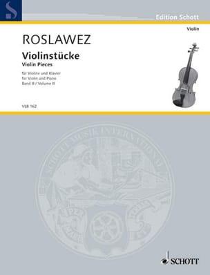 Violinstücke Volume 2 Nikolai Roslawez Partition Violon - laflutedepan