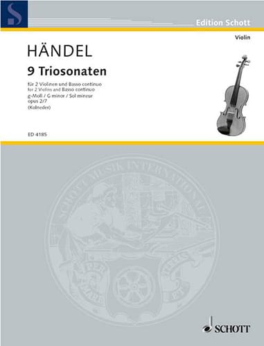 Triosonate g-moll, op. 2 Nr. 7 -Stimmen - HAENDEL - laflutedepan.com