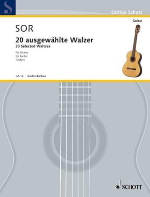 20 Augewählte Walzer - Guitarre SOR Partition Guitare - laflutedepan