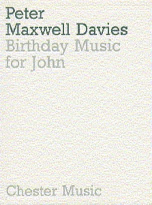 Birthday music for John - Score Davies Peter Maxwell laflutedepan