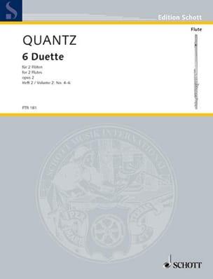 6 Duette op. 2 - Heft 2 Nr. 4-6 - 2 Flöten QUANTZ laflutedepan