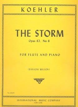 Ernesto KÖHLER - La tormenta op. 82 n ° 6 - flauta de piano - Partition - di-arezzo.es