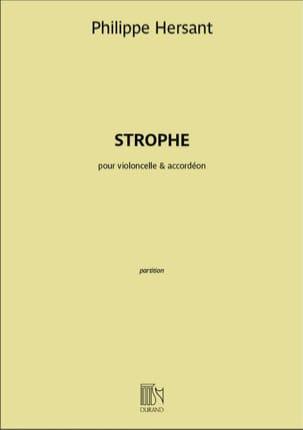 Strophe - Violoncelle et Accordéon Philippe Hersant laflutedepan