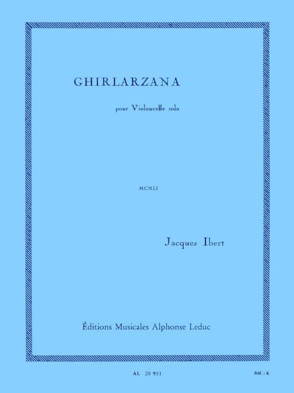 Ghirlarzana - IBERT - Partition - Violoncelle - laflutedepan.com