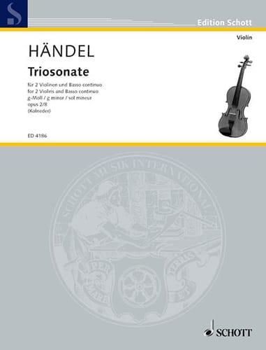 Triosonate g-moll, op. 2 n° 8 -Stimmen - HAENDEL - laflutedepan.com