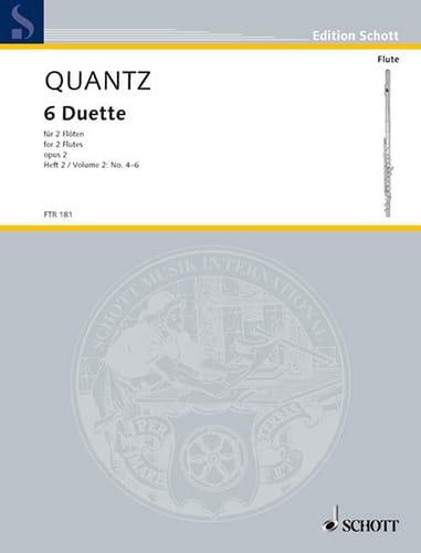6 Duette op. 2 - Heft 2 Nr. 4-6 - 2 Flöten - QUANTZ - laflutedepan.com
