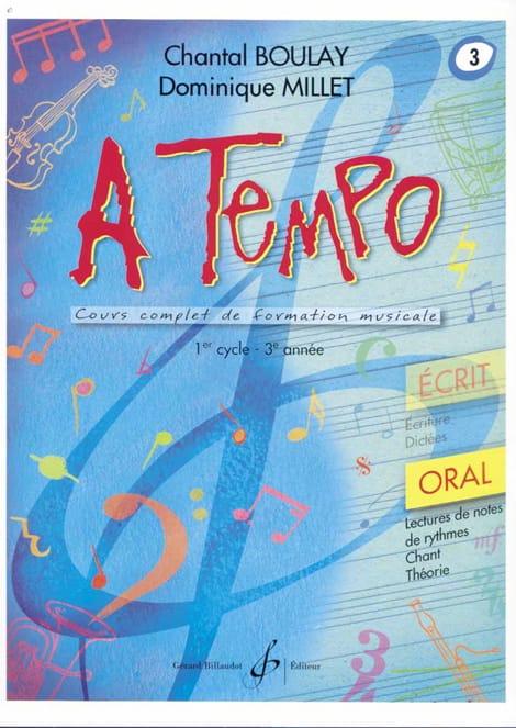 A Tempo Volume 3 - Oral - BOULAY - MILLET - laflutedepan.com