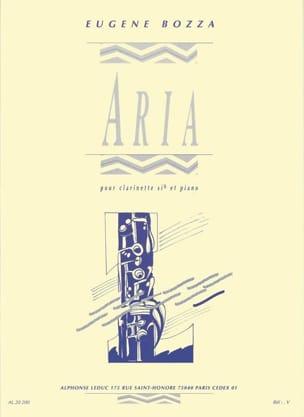 Aria - Clarinette Eugène Bozza Partition Clarinette - laflutedepan