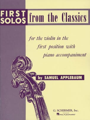 First solos from the classics Samuel Applebaum Partition laflutedepan
