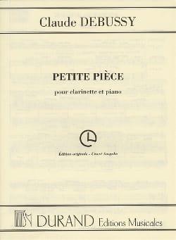 Petite Pièce DEBUSSY Partition Clarinette - laflutedepan