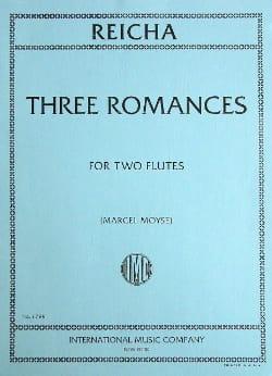 3 Romances op. 21 - 2 Flûtes REICHA Partition laflutedepan