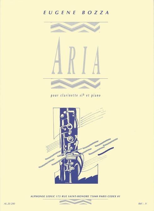 Aria - Clarinette - Eugène Bozza - Partition - laflutedepan.com