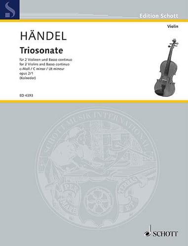 Triosonate c-moll op. 2 Nr. 1 -Stimmen - HAENDEL - laflutedepan.com