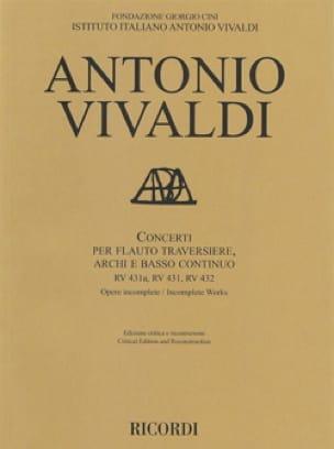 Concerti RV 431a, 431, 432 - Conducteur - VIVALDI - laflutedepan.com