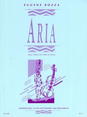 Aria - Violon ou flûte Eugène Bozza Partition Violon - laflutedepan