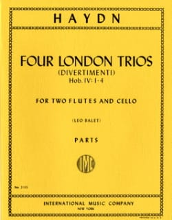 4 London Trios - 2 Flutes cello - Parts - HAYDN - laflutedepan.com