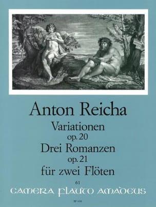 Variationen op. 20 - 3 Romanzen op. 21 - 2 Flöten REICHA laflutedepan