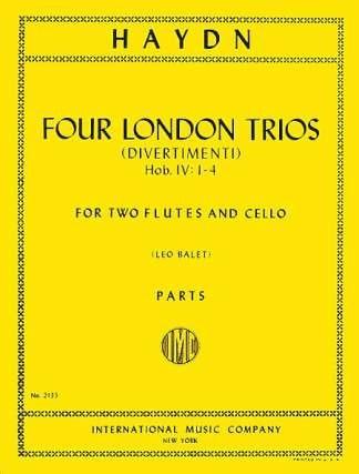 4 London Trios -2 Flutes cello - Parts - HAYDN - laflutedepan.com