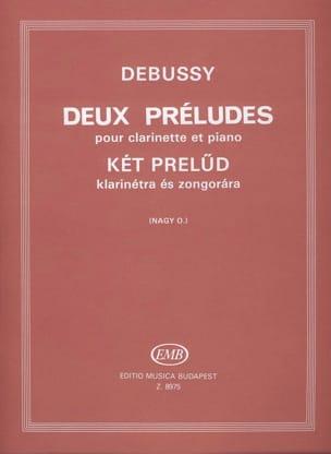 2 Préludes - Clarinette DEBUSSY Partition Clarinette - laflutedepan