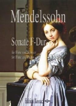 Sonate F-Dur - Flöte Klavier MENDELSSOHN Partition laflutedepan
