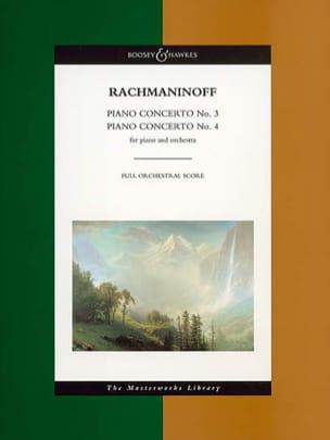 Concertos Piano N° 3 et 4 - Score RACHMANINOV Partition laflutedepan