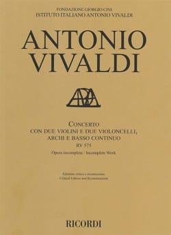 Concerto RV 575 - Conducteur - VIVALDI - Partition - laflutedepan.com