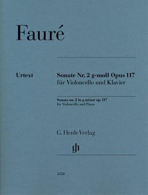 Sonate n° 2, op. 117 FAURÉ Partition Violoncelle - laflutedepan