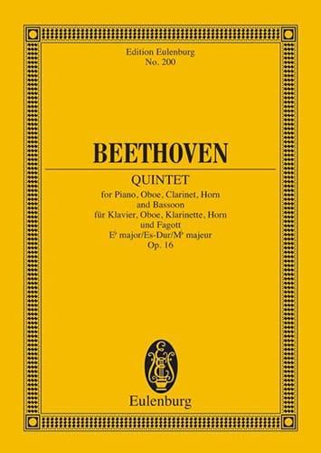 Quintett Es-Dur, Op. 16 - Partitur - BEETHOVEN - laflutedepan.com