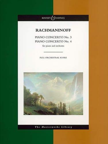 Concertos Piano N° 3 et 4 - Score - RACHMANINOV - laflutedepan.com
