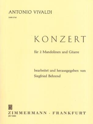Concerto En Sol mineur VIVALDI Partition Mandoline - laflutedepan