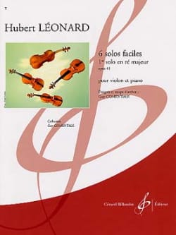 1er Solo en ré majeur op. 41 Comentale Hubert Léonard laflutedepan
