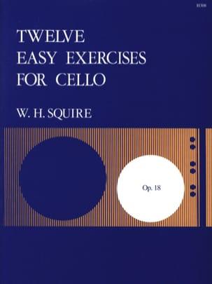 12 Easy Exercises Op.18 Squire W. H. Partition laflutedepan