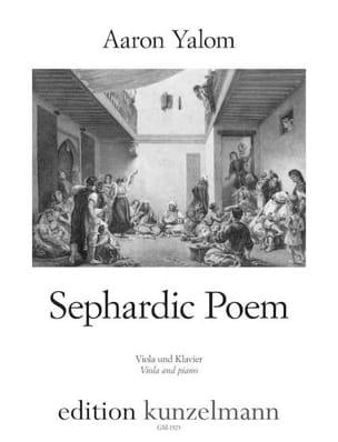 Sephardic Poem - Alto et piano Aaron Yalom Partition laflutedepan