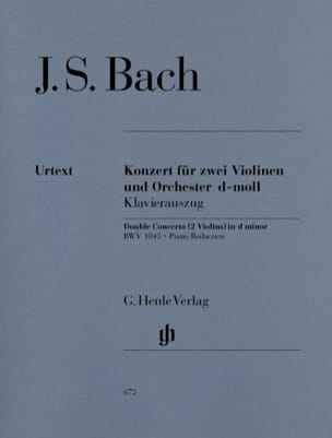 BACH - Concerto in D minor BWV 1043 for 2 violins and orchestra Double concerto - Partition - di-arezzo.com